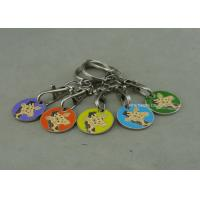 Soft Enamel Personalized Promotional Keyrings Shopping Car Token For Supper Market Manufactures