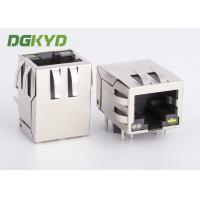 RJ45 Connector with integrated transformer/ common mode choke, OG/Y LED Manufactures