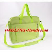 Cheap Promotional Office Document Bag Green Briefcase with zipper Manufactures