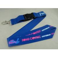 Full Color Printing Promotional Lanyards Sport Meeting Medal Ribbon / ID Neck Ribbon Manufactures
