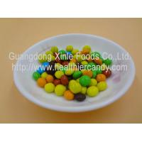 Good Taste Crispy Chocolate Cacao Beans Yellow / Red / Blue Colour Jelly Candy Manufactures