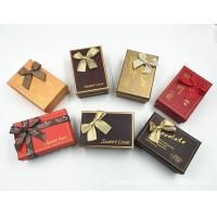 Ribbon Type Decorative Paper Boxes , Colorful Cardboard Storage Boxes Manufactures