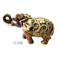 Indian elephant shape metal enamel jewelry gift boxes for necklaces Manufactures