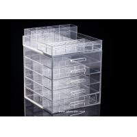 China Detachable Top for Brush Display Classic 5 drawers Acrylic Cosmetic Makeup Organizer on sale