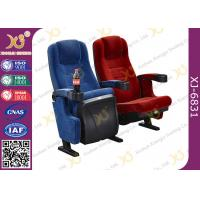 Thickness Head Cushion Movable Theatre Seating Chairs With PP Cover Fabric Armrest Manufactures