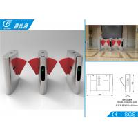 China Security Access Control  Flap Gate Barrier Turnstile Fast Speed For Libratary Exit on sale