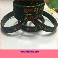 China glitter cheap debossed silicone bracelet wristband on sale