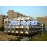 Vertical Domestic Sectional Water Tanks For Commercial , Bead Blasted Stainless Steel Water Tanks Manufactures