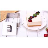Square Shaped Mousse Ring Molds For Cooking , Mini Cheesecake Mould For Home Manufactures