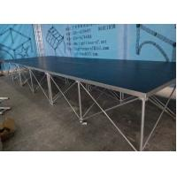 18mm Red / Black Folding Movable Stage Platform with Anti-slip Plywood Manufactures