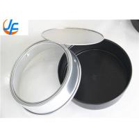 Round Aluminum Cake Mould With Removable Bottom Customized Size Manufactures