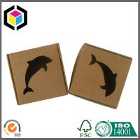 Small Size Corrugated Shipping Box; Black Color Logo Print Kraft Paper Box Manufactures