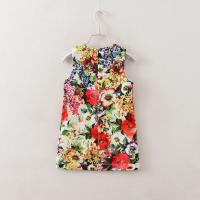 Quality Angou Baby Girl Dress Floral Pattern A-Line Princess Dress Girls European Style for sale