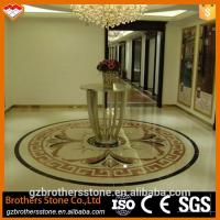 China Beige Marble Water Jet Medallion Bathroom Flooring And Wall Pattern Design on sale