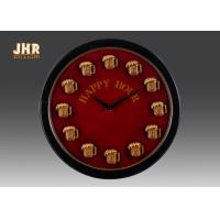 Round Wood Wall Clock Round Wall Clock Decorative Wall Art Signs Vintage / Retro Style Manufactures
