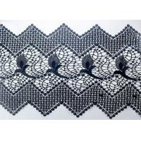Customized Width Polyester Lace African Cord Trims With OEKO TEX 100 For Dresses Manufactures