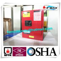 Red Flammable Combustible Storage Cabinets Two Vents Single Door Manufactures