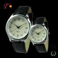 Quality Classic Leather Wristband Quartz Couple Watches for Lovers for sale