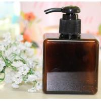 250ml 450ml 650ml Square Plastic Amber Brown Pet Cosmetic Shampoo Bottle Manufactures