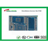 PCB Fabrication And Assembly Printed Circuit Board Assemblies 6 Layer Blue Solder Mask Manufactures