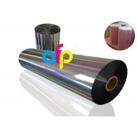 20 Mic PET Dry Holographic Film Roll , Clear Polyester Film With Rainbow Pattern Manufactures