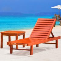 China Beach Chair Solid Wooden Outdoor Furniture Folding Recliner Sofa For Hotel Swimming Pool on sale