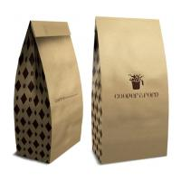 Customized Clear Zipper Pouch Gusset Bag , Simple Kraft Paper Bakery Bags Manufactures