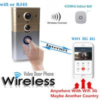 HD 720p WiFi Wireless Video Visual Doorbell Night Vision Motion Detection And Theft Alarm Manufactures