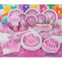 Fantasy girl theme kids disposable paper cups + plates party pack birthday Party Decoration Set party supplies Manufactures