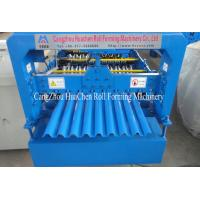China G550 Mpa Corrugated Roofing Sheet Roll Forming Machine for thickness 0.3mm - 0.6mm on sale