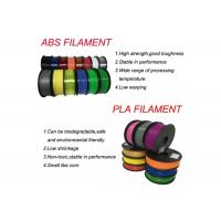 HIPS / ABS / PLA / HIPS 3D Printer Filament 1.75mm / 2.85mm Manufactures