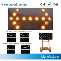 Directional Traffic Arrow Boards 1000 Meter Visiable With 5 Dia 200mm LED Lights Manufactures