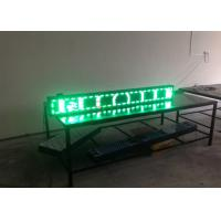 High Brightness Trivision LED Text Display / outdoor led message boards P10 Single Green Manufactures