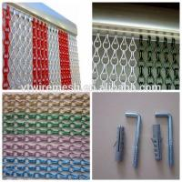 High quality Aluminium Chain Insect Door Fly Screen Curtain Manufactures