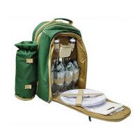 large capacity camping cooler backpack with folks, knives, cups accessories Manufactures
