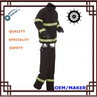 Navy Blue Fireman Suit PTEF Coated Fabrics 450N Tensile Strength 3Kg Manufactures