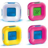 Candy Color Four Sided Clock LED Digital Alarm Clock with Calendar Temperature Manufactures
