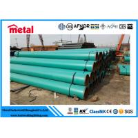 Quality 21.3 - 660 Mm Dia Plastic Coated Steel Tube , Green 2 Inch Schedule 40 Steel Pipe for sale