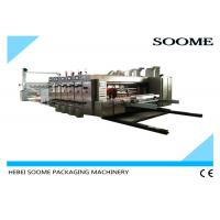 China High Specification Corrugated Box Printing Machine , Auto 4 Colors Flexo Die Cutter on sale