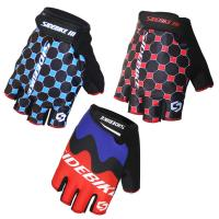 Outdoor Sports Bike Half Finger Gloves Customized Label Bright Color Printed Manufactures
