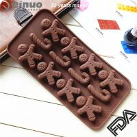 China Hot sale factory custom made Christmas Ginger Bread crutch shape silicone baking mould on sale