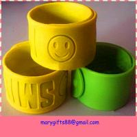 china supply promotional silicone rubber slap wristband Manufactures