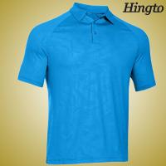 Durable 100 Cotton embroidered Polo Shirts , Light Blue Polo Shirt