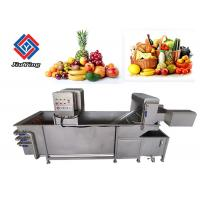 Fruit And Vegetable Bubble Cleaning Machine , Chinese Cabbage Washing Machine Manufactures