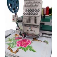Flat bed / Cap Single Head Embroidery machine , 12 Needles Manufactures