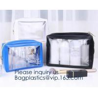China Heavy Duty Clear Toiletry Makeup Bags Transparent Shaving Bag Water Resistant Cosmetic Bag Organizer Pouch for Travel wi on sale