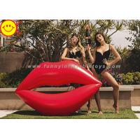 China Lip Shape Giant Inflatable Water Floats Water Pool Float Red Color Cool Pool Floats wholesale