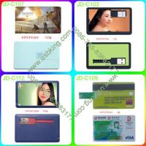 China Credit card usb memory stick custmozied logo on show your stylish on sale