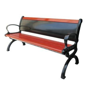 China Haoyida 1200mm Cast Iron And Wood Garden Bench Advertising on sale