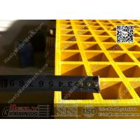 China 1.22 X 3.44m Fiberglass Reinforced Plastic Molded Grating   ABS Certificated on sale